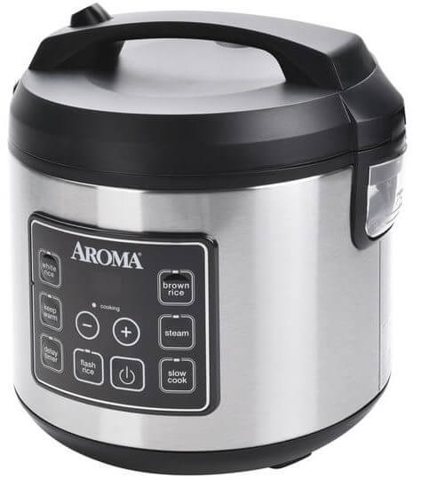 Aroma Housewares 20 Cup Cooked Digital Rice Cooker ARC-150SB
