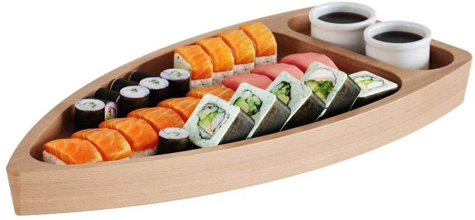Wooden Sushi Boat by Engineered Design