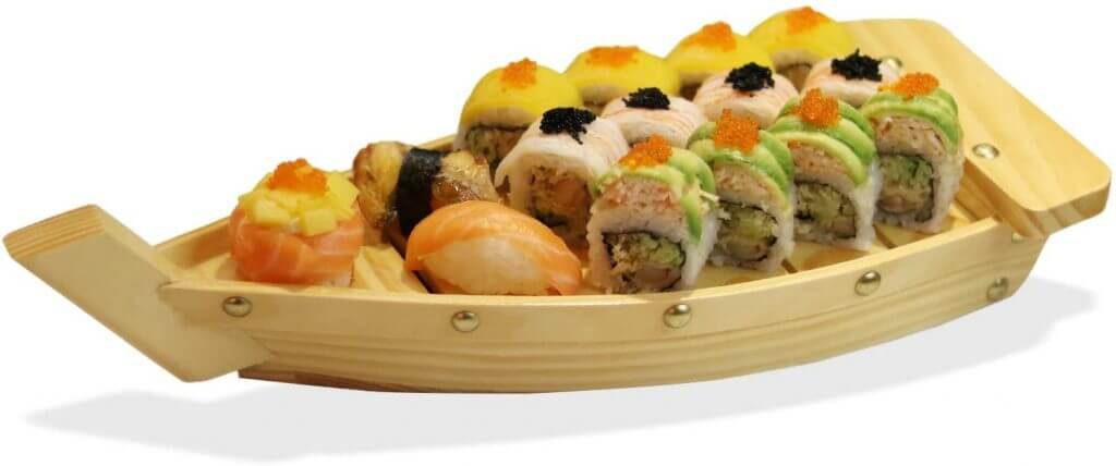 Wooden Sushi Serving Plate by Kichgather